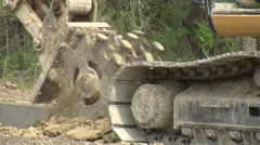 Heavy Machinery Construction work Stock Footage