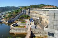 Stock Photo of alqueva dam in alentejo