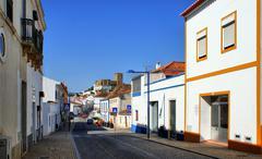 street of mertola village - stock photo