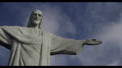 1080HD Timelapse Christ The Redeemer Statue/Clouds Rio De Janeiro, Braziil - stock footage