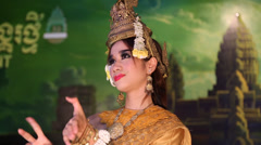 Stock Video Footage of Apsara dancer in restaurant in Siem Reap, Cambodia