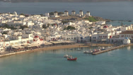 Stock Video Footage of Mykonos Island in Greece