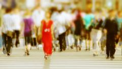 Time lapse of crowds on crosswalk Stock Footage