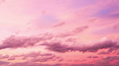 Timelapse of PInk Sunset Sky, HD 720 Stock Footage