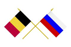 Stock Photo of flags, russia and belgium