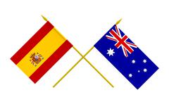 Stock Photo of flags, spain and australia