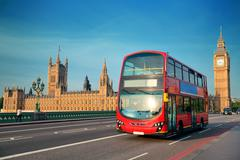 Bus in london Stock Photos