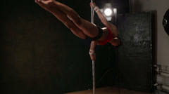Pole Fitness Stock Footage