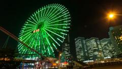 4k - Yokohama Cosmo clock - Timelapse Stock Footage