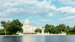 Time lapse of the United States Capitol. Stock Footage