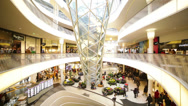 Stock Video Footage of People in modern Shopping Mall