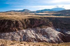 Pre inca traditional salt mine Stock Photos