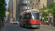 Stock Video Footage of Toronto Trolleys on King Street