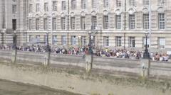 Summer In London - Southbank London Eye Stock Footage