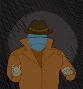 scary invisble man - stock illustration