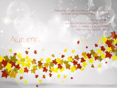 Autumnal leaf background, vector illustration - stock illustration