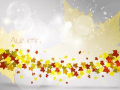 Autumnal leaf background, vector illustration - stock illustration