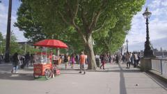 Summer In London - Southbank Stock Footage