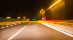 Freeway journey night time lapse 4K Stock Footage
