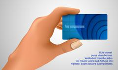 Business card in hand Stock Illustration