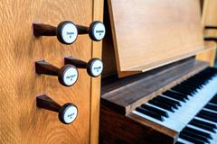 Church organ keyboard Stock Photos