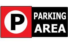 parking vehicle sign symbol area - stock illustration
