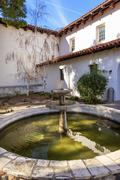 Mission san luis obispo de tolosa courtyard fountain california Stock Photos