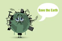 Conserve the earth Stock Illustration
