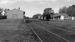 Old Rural Train Station Stock Footage