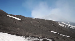 Nice day at etna volcano, sicily, italy. Stock Footage