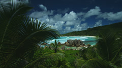 Amazing outlook at tropical bay Stock Footage