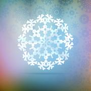 Paper snowflakes for winter background - stock illustration