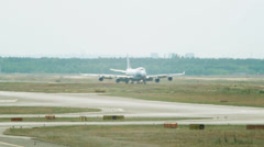 Airplane on the landing strip Stock Footage