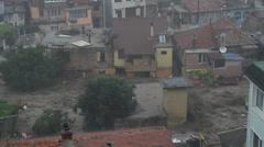 Rain flood in Bulgaria - stock footage