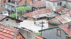 Rain flood in Bulgaria Stock Footage