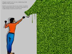 Ecological concept of grass Stock Illustration