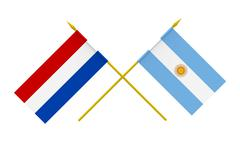 flags, argentina and netherlands - stock photo