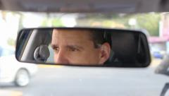 Man driving Stock Footage