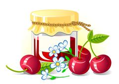 Cherry Jam - stock illustration