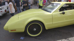 Summer In London - Car Show Stock Footage