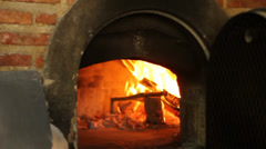 Pizza brick oven Stock Footage