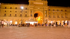 Piazza Della Republica. Time Lapse in Florence, Italy. Stock Footage