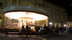 Carousel, Piazza Della Republica. Time Lapse in Florence(Firenze), Italy. Stock Footage