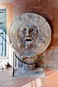 Mouth of truth in rome Stock Photos