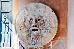 mouth of truth in rome - stock photo