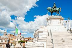 altar of the fatherland in rome - stock photo