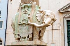 Elephant at piazza della minerva in rome, italy Stock Photos