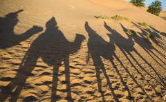 caravan shadows - stock photo