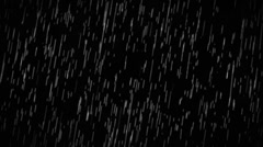 Rain Drops Falling Alpha Loop Stock Footage