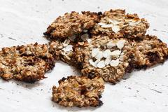Homemade cookie with oat flakes Stock Photos